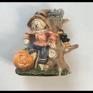 Vintage ceramic scarecrow JOL Halloween decor